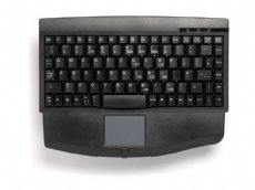 Mini keyboard, Black, PS/2 with built in Touchpad