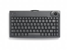 Mini keyboard, Wireless, Black, PS/2 with built in Trackball