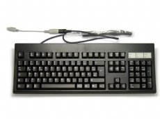 German (QWERTZ) PS/2 or AT Keyboard, Black