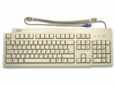 IBM Spanish keyboard, beige, PS/2