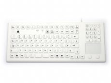 InduKey Smart Clinical Touchpad Keyboard White IP68