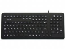 InduKey Induproof Med - Antimicrobial Compact Silicone Keyboard IP68 Black