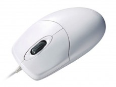 IP68 Washable Antibacterial Scroll Wheel Mouse White