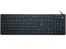 Medical Sealed IP-68 Silicone Keyboard Black