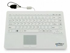 SEAL TOUCH Silicone All-in-One Keyboard with Touch Pad White