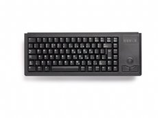 Cherry Mini keyboard, Black, PS/2 with built in Trackball