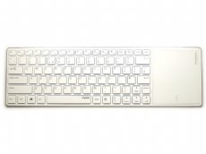 Ultra Slim White Bluetooth Touchpad Keyboard