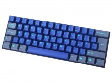 UK V60 Cubic Midnight Down 60% MX Silent Red Linear Double Shot Keyboard