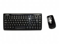 Piano Black Mini Wireless Keyboard and Mouse Set